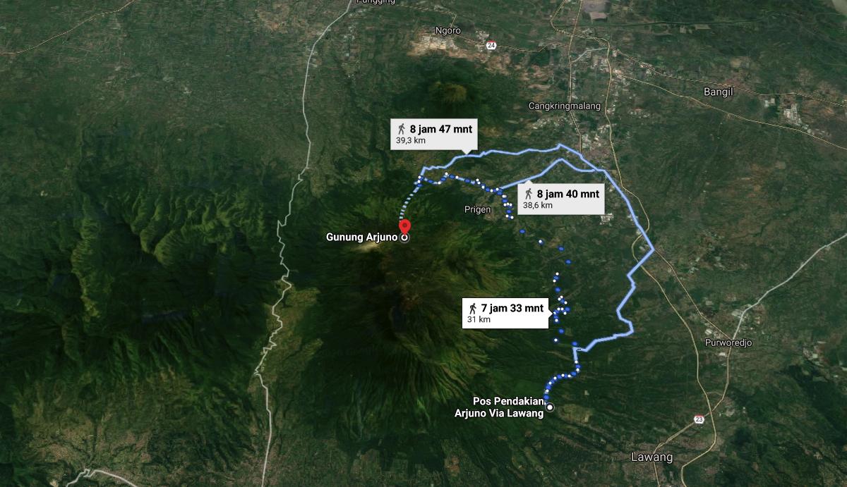 Jalur Pendakian Gunung Arjuno Via Lawang